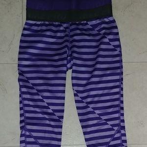Purple Stripe High Waist Leggings